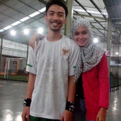Photo taken at Galaxy Futsal Center by Destyara Z. on 5/19/2013