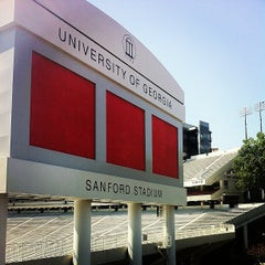 Photo taken at Sanford Stadium by Matt G. on 6/15/2013