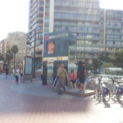 Photo taken at Metrovalencia Pl. Espanya by Sergio G. on 7/25/2014