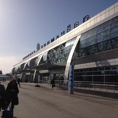 Photo taken at Международный аэропорт Толмачёво / Tolmachevo International Airport (OVB) by Tanya S. on 4/9/2013