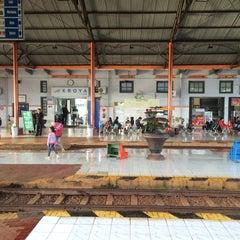 Photo taken at Stasiun Kroya by Nur K. on 5/13/2015