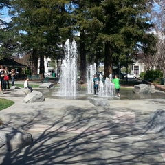 Photo taken at Los Gatos Town Plaza by Mary P. on 4/1/2013