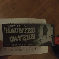 Photo taken at Ruby Falls Haunted Caverns by Naveen B. on 9/28/2014