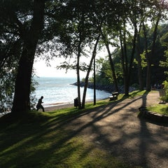 Photo taken at Plage Jacques Cartier by Diego B. on 8/18/2013