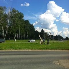 "Photo taken at ""Rīgai - 800"" piemineklis | Monument of ""Riga - 800"" by Inga Z. on 5/30/2013"