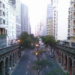 Photo taken at Viaduto Otávio Rocha (Viaduto da Borges) by Ricardo C. on 7/28/2013