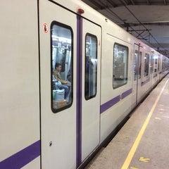 Photo taken at 延安西路地铁站 | W. Yan'an Rd. Metro Stn. by Sergei K. on 4/30/2014