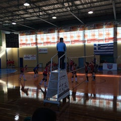 Photo taken at Κλειστο Γυμναστηριο Αργους by Charisa P. on 2/15/2015