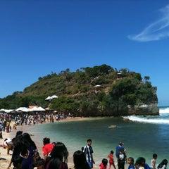Photo taken at Pantai Indrayanti by IRma R. on 8/14/2013