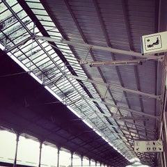 Photo taken at Estação Ferroviária de Viana do Castelo by João G. on 8/11/2014