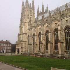 Photo taken at Canterbury Cathedral by Laurence H. on 2/17/2013