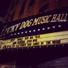 Photo taken at Lucky Dog Music Hall by Taylor M. on 10/25/2012