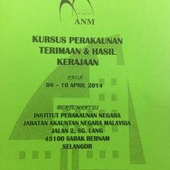 Photo taken at Institut Perakaunan Negara by Aniey A. on 4/8/2014