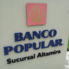 Photo taken at Banco Popular, Altamira Center by Isalyn L. on 4/17/2013