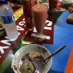Photo taken at Bakso Kumis by ArdyS on 5/1/2014
