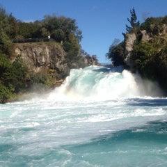 Photo taken at Huka Falls by Kim T. on 5/31/2013