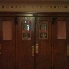 Photo taken at Bowker Auditorium by Spenser C. on 4/16/2013