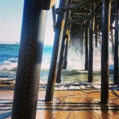 Photo taken at Seal Beach by Charlene C. on 7/15/2013
