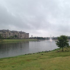 Photo taken at The Park at Josey Ranch Lake by Adam C. on 7/15/2013