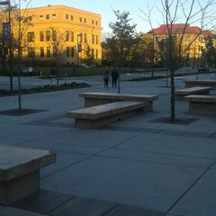 Photo taken at Wescoe Beach by Andy A. on 10/29/2015