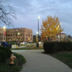 Photo taken at Wescoe Beach by Andy A. on 11/18/2015