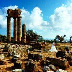 Photo taken at Αρχαίο Στάδιο (Ancient Stadium) by Mine K. on 9/25/2015