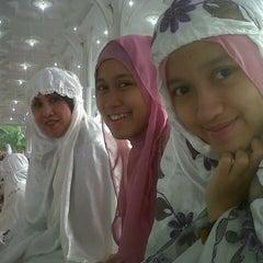 Photo taken at Masjid Agung Al-Falah by Layra N. on 8/8/2013