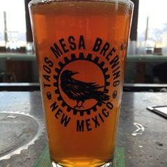 Photo taken at Taos Mesa Brewing by Alex D. on 2/17/2013