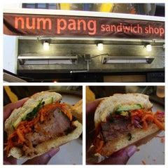 Photo taken at Num Pang Sandwich Shop by KMP Blog on 7/3/2013