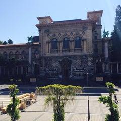 Photo taken at Bibliothèque Cantonale Universitaire by Fatih BAKIRCI on 5/18/2014