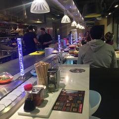 Photo taken at YO! Sushi by A A. on 1/30/2015