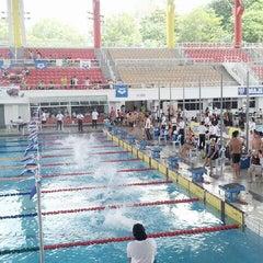 Photo taken at Pusat Akuatik Darul Ehsan (Aquatic Centre) by J W. on 6/8/2013