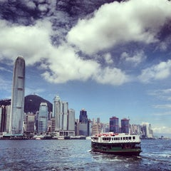 Photo taken at Victoria Harbour 維多利亞港 by Brad Y. on 6/4/2013