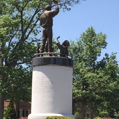 Photo taken at Arthur Ashe Monument by Michael F. on 5/22/2015