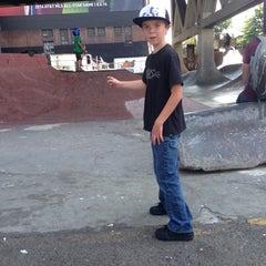 Photo taken at Burnside Skate Park by Paul L. on 8/16/2014