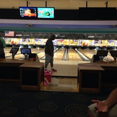 Photo taken at AMF Western Branch Lanes by Lori P. on 7/21/2014