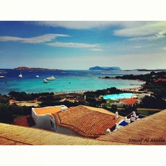 Photo taken at Hotel Romazzino, Costa Smeralda by Yousif A. on 8/26/2013