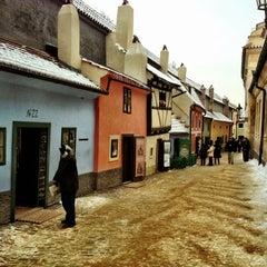 Photo taken at Zlatá ulička | The Golden Lane by Mikhail S. on 12/13/2012