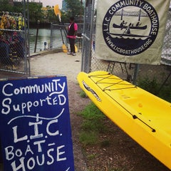 Photo taken at Long Island City Boathouse by Cheema's NYC on 8/27/2013