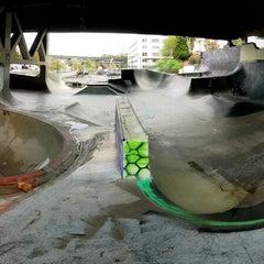 Photo taken at Burnside Skate Park by Nathan S. on 10/15/2014