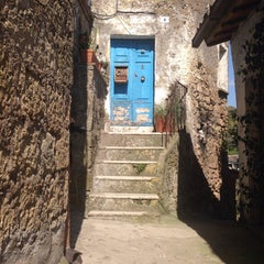 Photo taken at Calcata by Michela P. on 4/12/2015