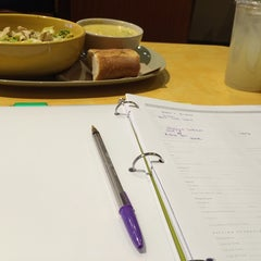 Photo taken at Panera Bread by Kirstyn D. on 4/10/2014