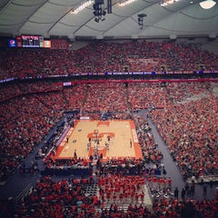 Photo taken at Carrier Dome by Ashley B. on 1/12/2013