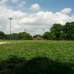 Photo taken at McCarren Park by Colin G. on 7/4/2013