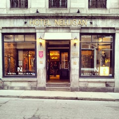 Photo taken at Hôtel Nelligan by Tricia D. on 5/20/2013