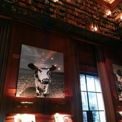Photo taken at The Library at Hudson Hotel by Brenda C. on 1/7/2013