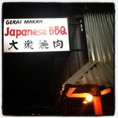 Photo taken at Gerai Makanan Japanese BBQ by Audrey Q. on 11/10/2012