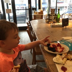 Photo taken at Le Pain Quotidien by Rebecca B. on 5/25/2015