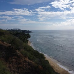 Photo taken at Amelia Earhart marker at Diamond Head Lookout by Denise F. on 12/1/2012