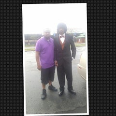 Photo taken at Campbell Memorial High School by Tiffani R. on 5/9/2014
